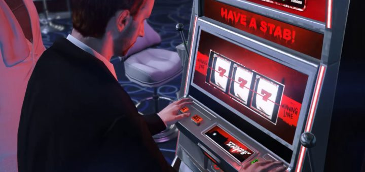 man playing slot